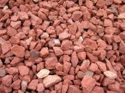crushed red brick for bocce
