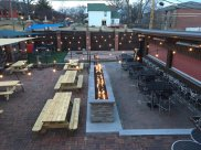 bocce ball and tables